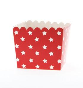 Box- Xmas white stars