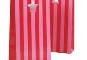 BAG- Candy Stripes- PINK/RED