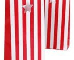 BAG- Candy Stripes- RED/WHITE
