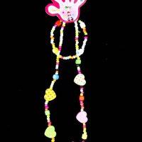 Heart Beaded Necklace & Bracelet