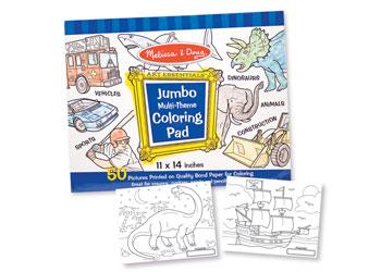 M&D Jumbo Colouring Pad-BLUE