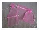 Organza Bag- Pink Sparkles