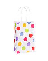BAG- Carry Handle- WHITE/COLOUR dots