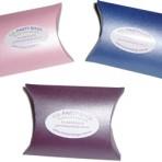 Coloured pillow boxes