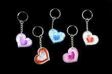 Glitter Heart Keyring