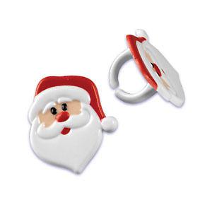Santa Cupcake Rings
