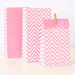 BAG- PartyiIlume- Chevron Pink